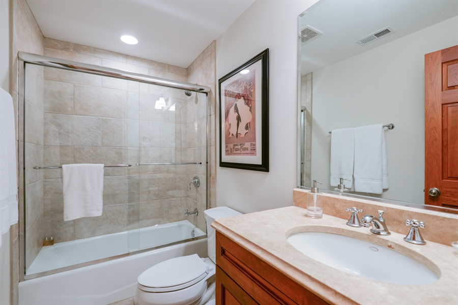 Real Estate Photography - 1232 Wellington, Chicago, IL, 60657 - 2nd Bathroom