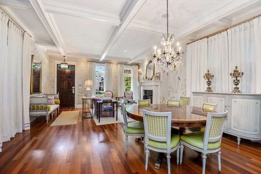 Real Estate Photography - 1232 Wellington, Chicago, IL, 60657 - Living Room / Dining Room