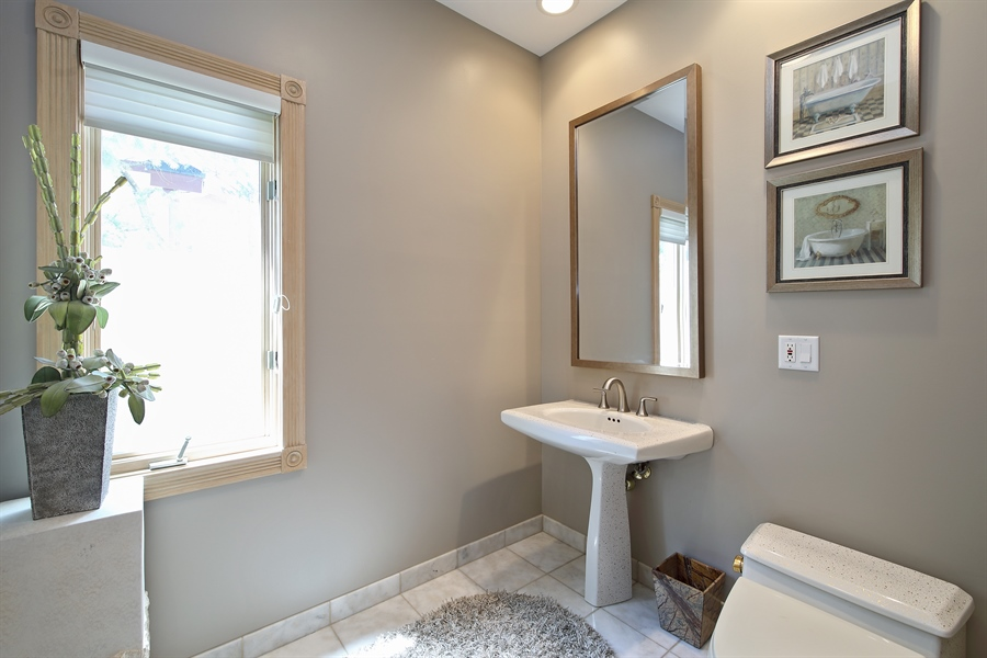 Real Estate Photography - 4307 Westview Dr, Northbrook, IL, 60062 - Powder Room