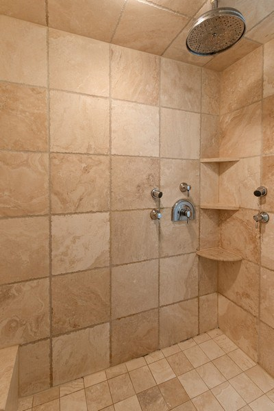 Real Estate Photography - 9 Bannockburn Ct, Bannockburn, IL, 60015 - Master Shower