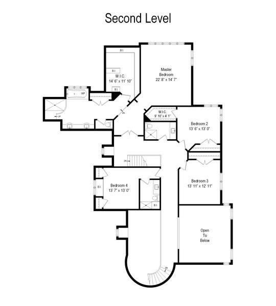 Real Estate Photography - 9 Bannockburn Ct, Bannockburn, IL, 60015 - Floor Plan