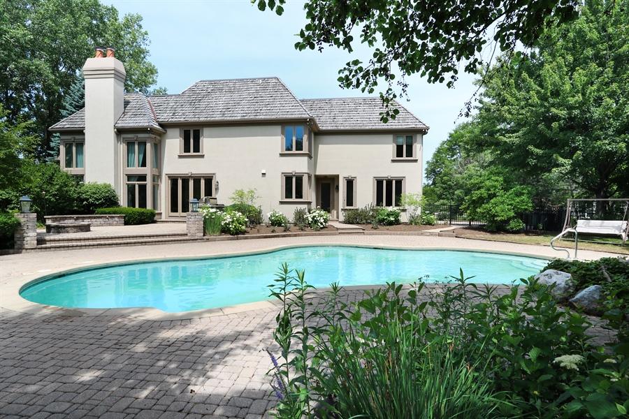 Real Estate Photography - 9 Bannockburn Ct, Bannockburn, IL, 60015 - Rear View