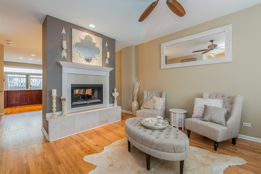 Real Estate Photography - 537 N Hartland, Chicago, IL, 60622 - Living Room