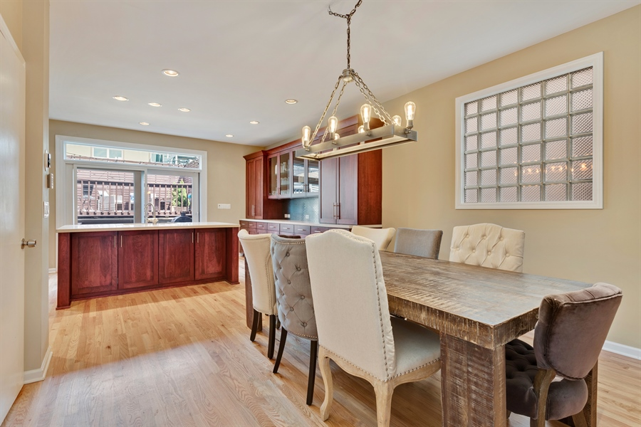 Real Estate Photography - 537 N Hartland, Chicago, IL, 60622 - Dining Room