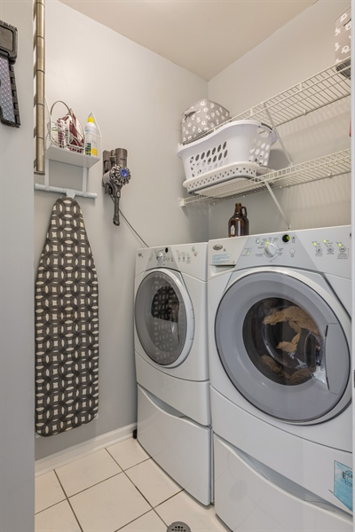 Real Estate Photography - 537 N Hartland, Chicago, IL, 60622 - Laundry Room