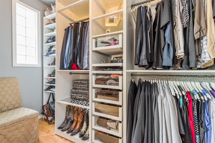 Real Estate Photography - 537 N Hartland, Chicago, IL, 60622 - Master Bedroom Closet
