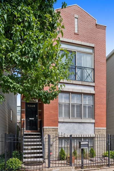 Real Estate Photography - 537 N Hartland, Chicago, IL, 60622 - Primary exterior