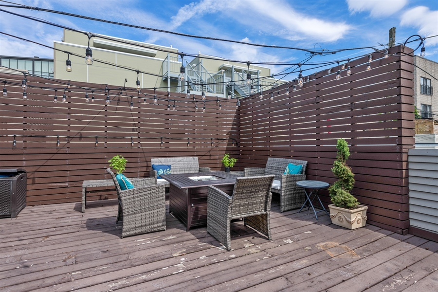 Real Estate Photography - 537 N Hartland, Chicago, IL, 60622 - Deck