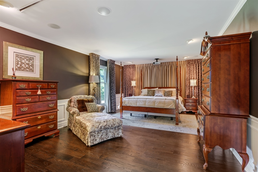 Real Estate Photography - 1680 Ridge Rd, Lake Forest, IL, 60045 - Master Bedroom