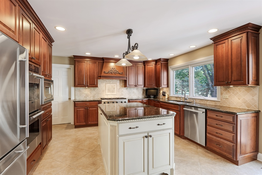 Real Estate Photography - 1680 Ridge Rd, Lake Forest, IL, 60045 - Kitchen