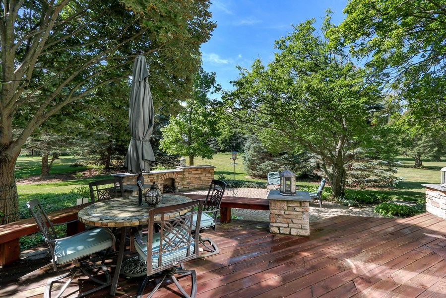 Real Estate Photography - 1680 Ridge Rd, Lake Forest, IL, 60045 - Deck