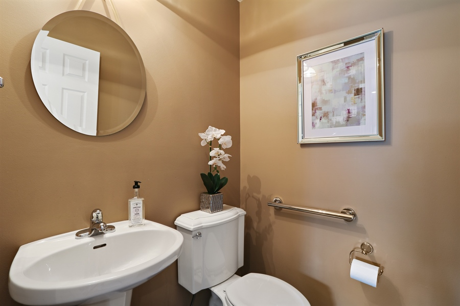 Real Estate Photography - 812 Foxmoor Ln, Lake Zurich, IL, 60047 - Powder Room