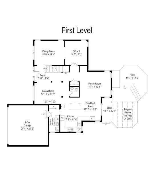 Real Estate Photography - 812 Foxmoor Ln, Lake Zurich, IL, 60047 - Floor Plan