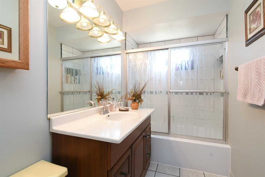 Real Estate Photography - 5921 Monroe St, Morton Grove, IL, 60053 - 2nd Bathroom