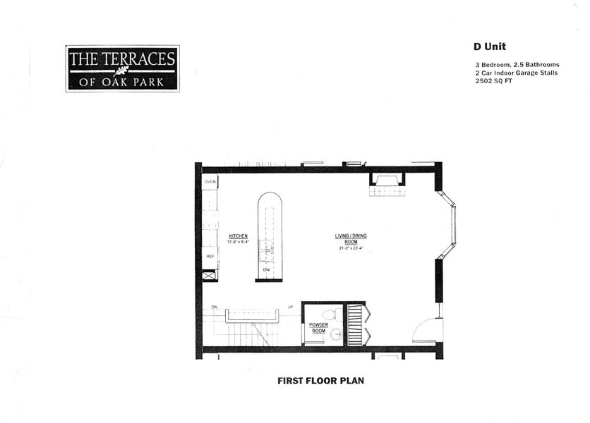 Real Estate Photography - 101 N. Euclid, 14, Oak Park, IL, 60301 - First Floor Plan