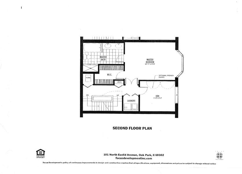 Real Estate Photography - 101 N. Euclid, 14, Oak Park, IL, 60301 - Second Floor Plan
