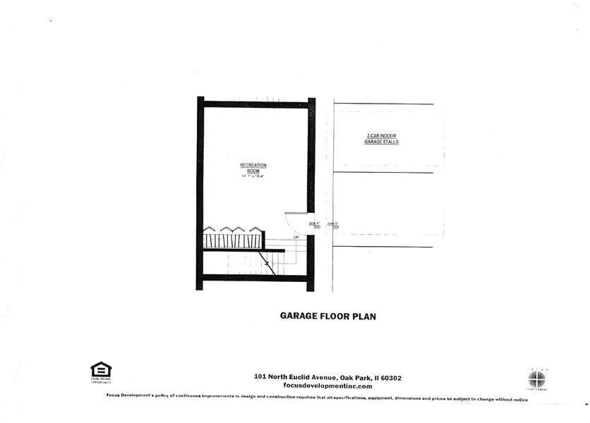 Real Estate Photography - 101 N. Euclid, 14, Oak Park, IL, 60301 - Lower Level Floor Plan