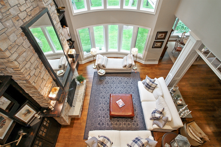 Real Estate Photography - 1251 Saint Andrews Road, Lake Geneva, WI, 53147 - Great Room from above