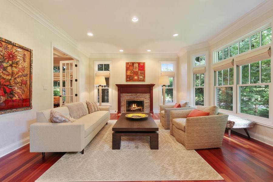 Real Estate Photography - 1354 Lincoln Ave S, Highland Park, IL, 60035 - Living Room