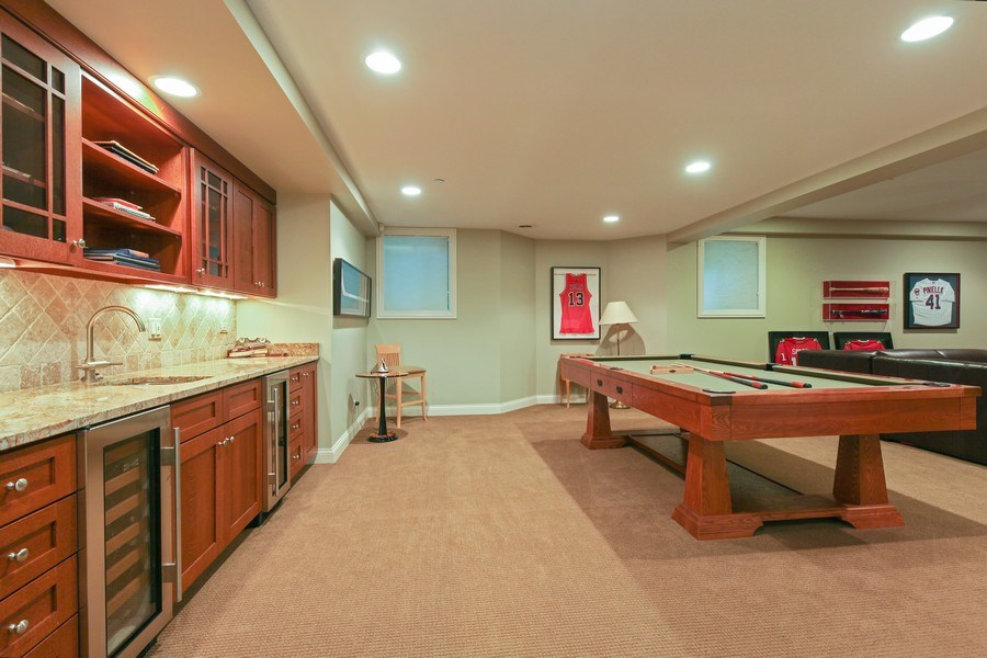Real Estate Photography - 1354 Lincoln Ave S, Highland Park, IL, 60035 - Recreational Room