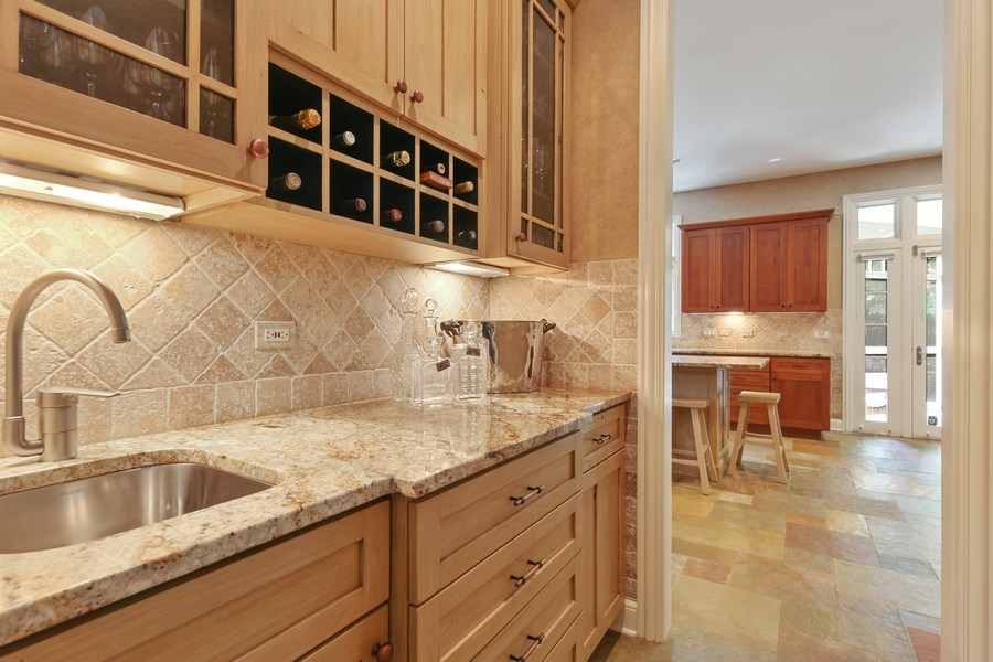 Real Estate Photography - 1354 Lincoln Ave S, Highland Park, IL, 60035 - Butler's pantry