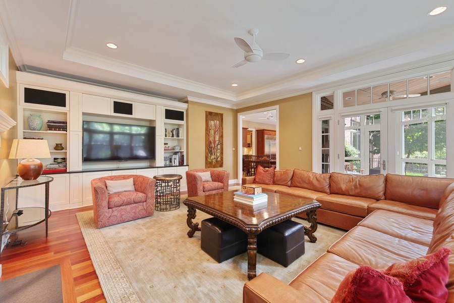 Real Estate Photography - 1354 Lincoln Ave S, Highland Park, IL, 60035 - Family Room