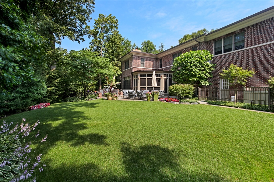 Real Estate Photography - 1354 Lincoln Ave S, Highland Park, IL, 60035 - Rear View