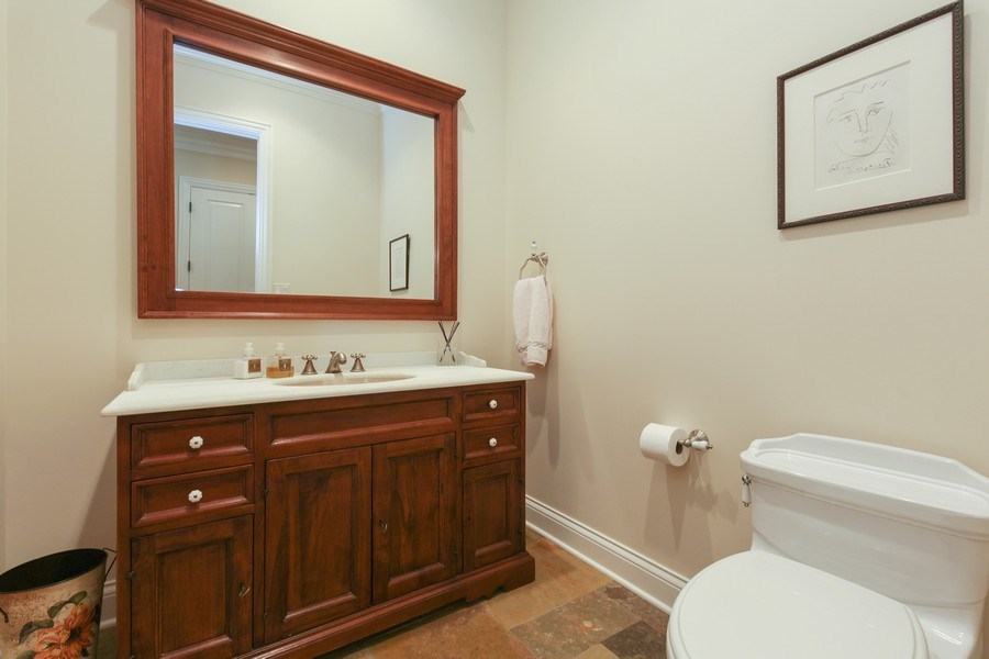Real Estate Photography - 1354 Lincoln Ave S, Highland Park, IL, 60035 - Half Bath