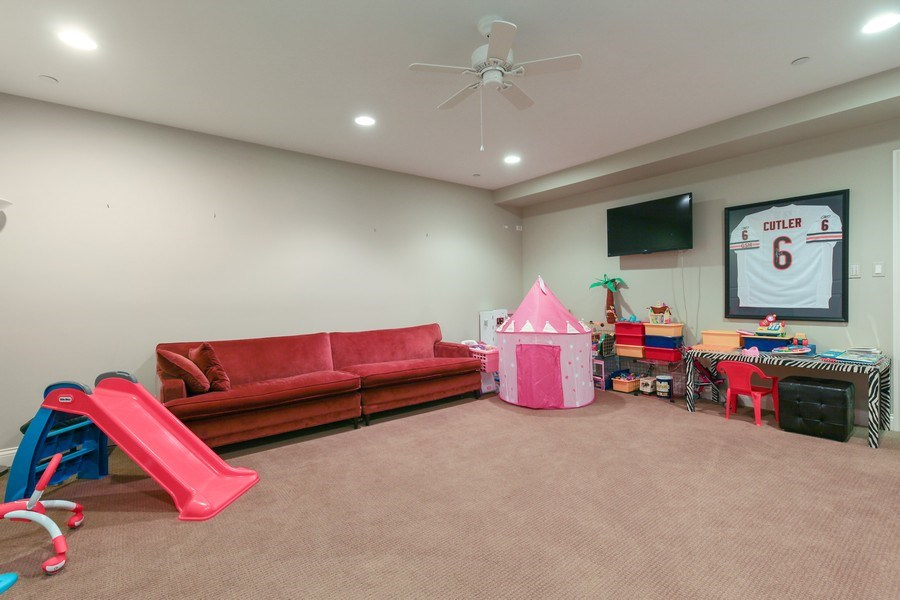 Real Estate Photography - 1354 Lincoln Ave S, Highland Park, IL, 60035 - Play / Recreational Room