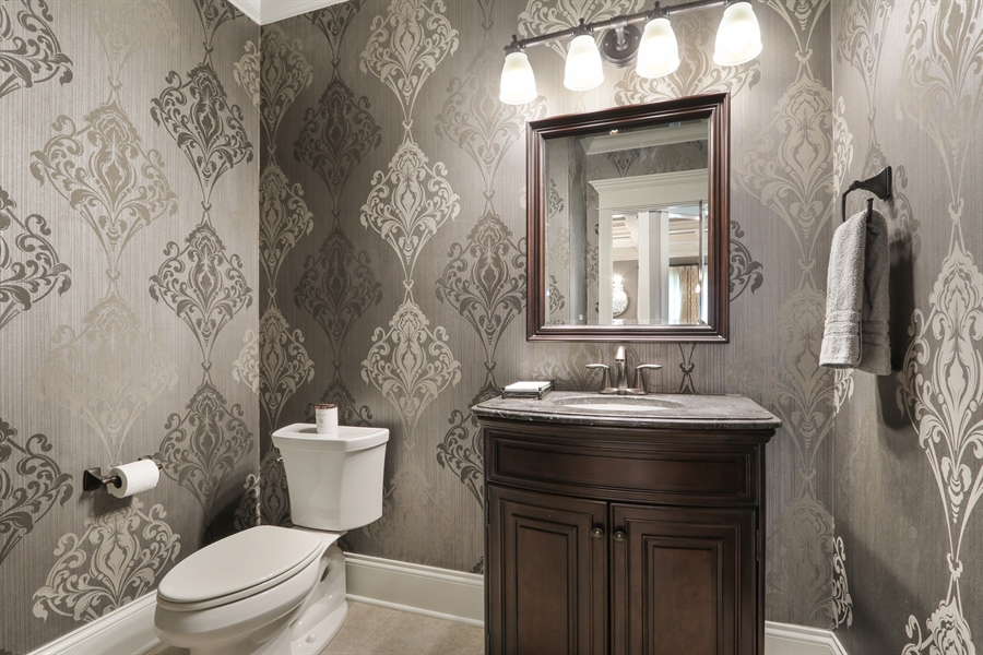 Real Estate Photography - 1232 N Chicago Avenue, Arlington Heights, IL, 60004 - Powder Room