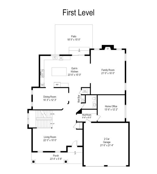 Real Estate Photography - 1232 N Chicago Avenue, Arlington Heights, IL, 60004 - Floor Plan