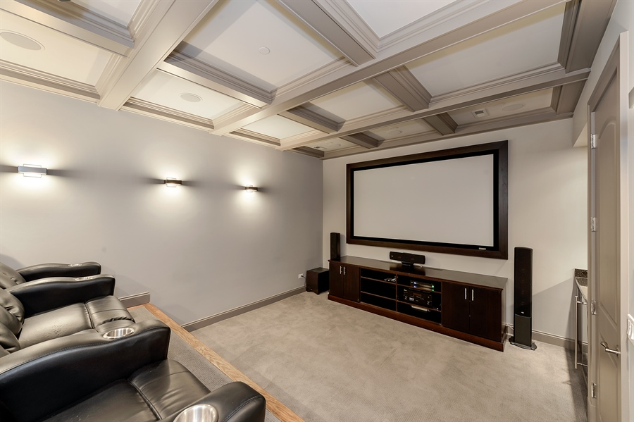 Real Estate Photography - 1526 N Elk Grove, Chicago, IL, 60622 - Media Room