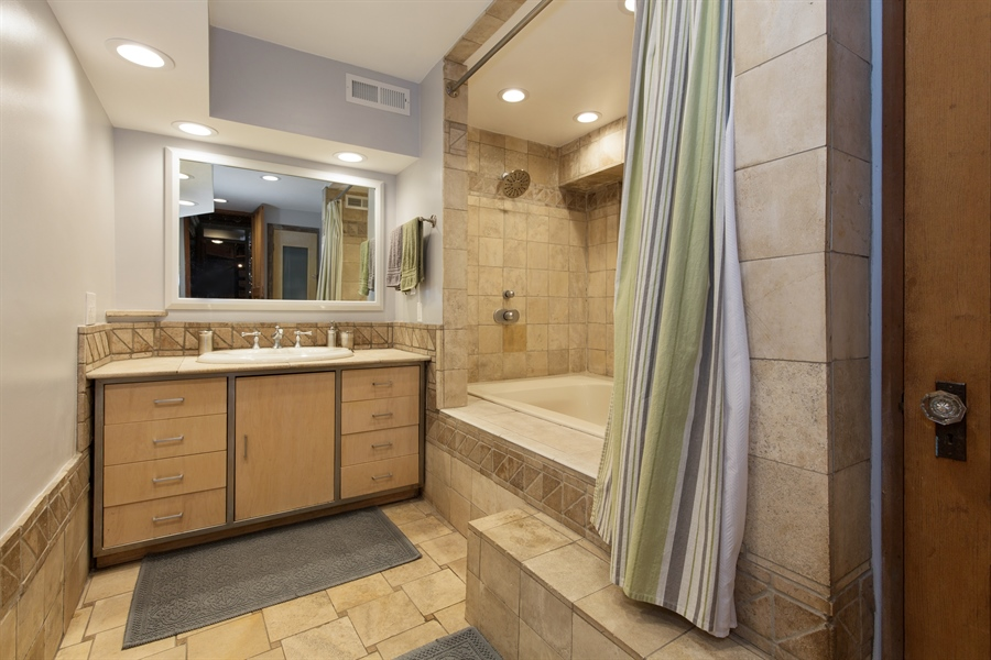 Real Estate Photography - 2854 N Orchard, Unit 1, Chicago, IL, 60657 - Master Bathroom