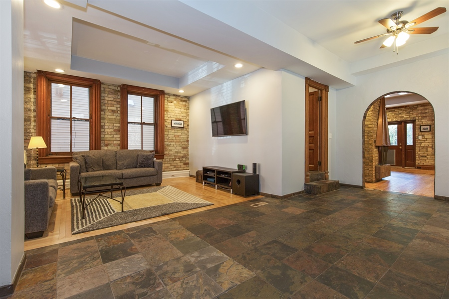 Real Estate Photography - 2854 N Orchard, Unit 1, Chicago, IL, 60657 - Living Room