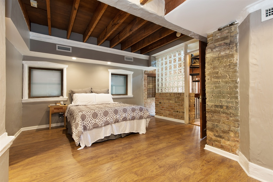 Real Estate Photography - 2854 N Orchard, Unit 1, Chicago, IL, 60657 - Master Bedroom
