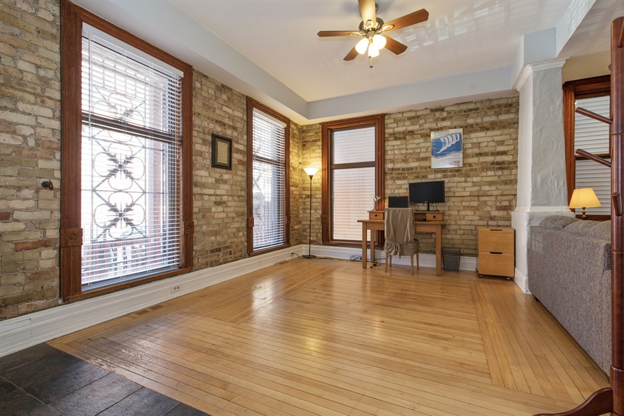 Real Estate Photography - 2854 N Orchard, Unit 1, Chicago, IL, 60657 - Family Room