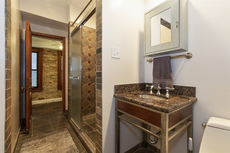 Real Estate Photography - 2854 N Orchard, Unit 1, Chicago, IL, 60657 - Bathroom