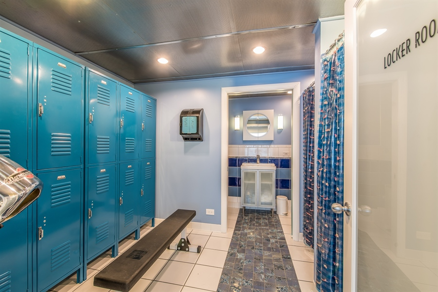 Real Estate Photography - 2035 Wagner Rd, Glenview, IL, 60025 - Pool locker room