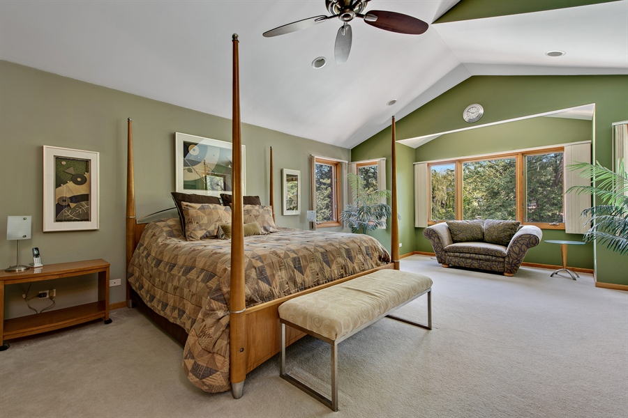 Real Estate Photography - 2035 Wagner Rd, Glenview, IL, 60025 - Master Bedroom