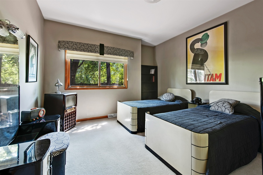 Real Estate Photography - 2035 Wagner Rd, Glenview, IL, 60025 - 1st floor bedroom (bedroom 5)