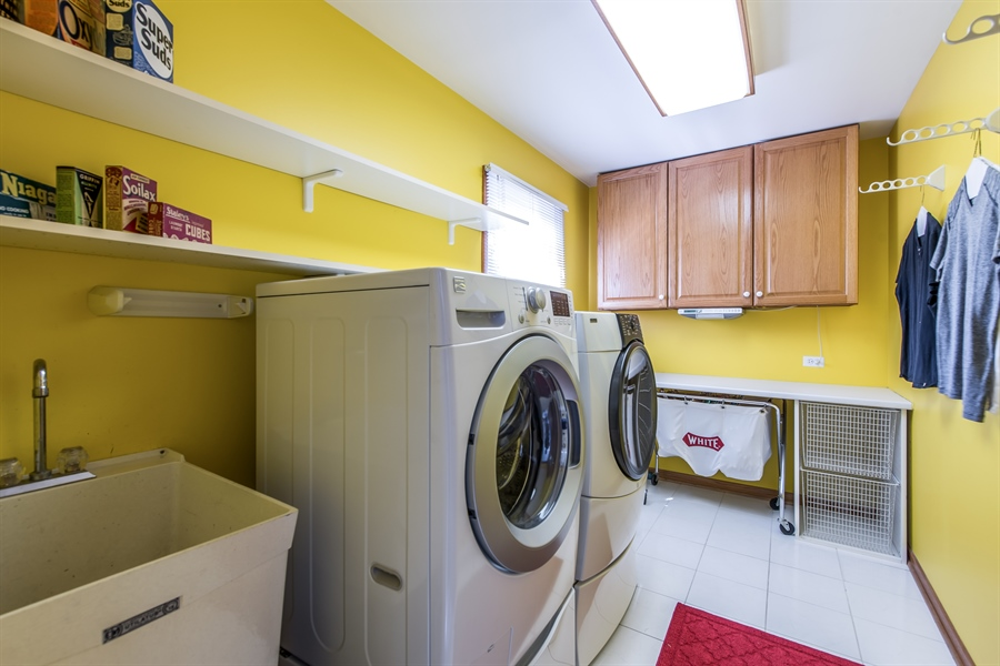 Real Estate Photography - 2035 Wagner Rd, Glenview, IL, 60025 - 2nd floor laundry room