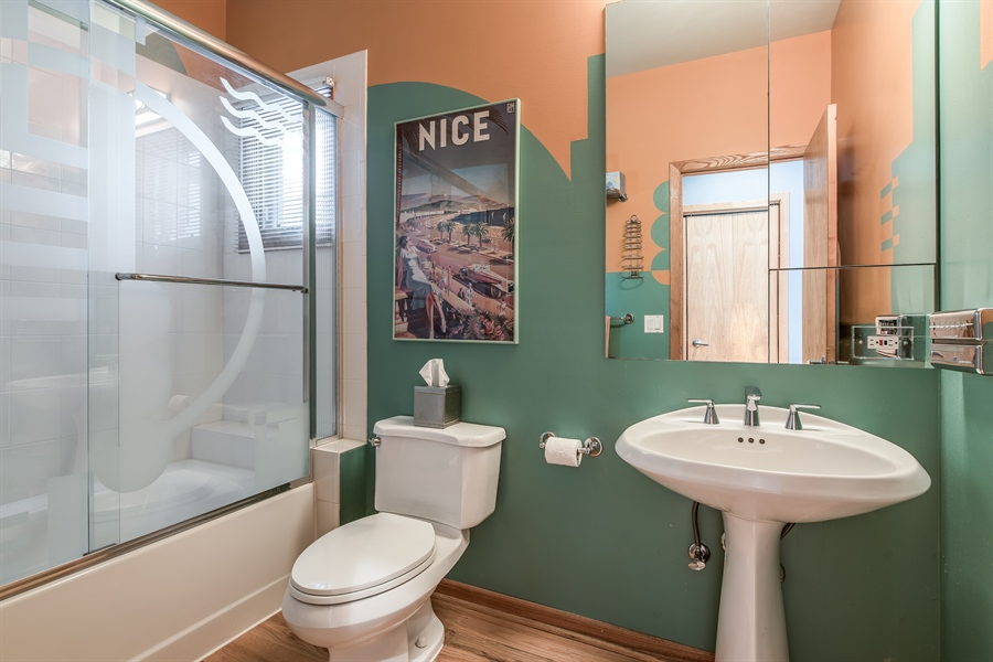 Real Estate Photography - 2035 Wagner Rd, Glenview, IL, 60025 - 1st floor bathroom