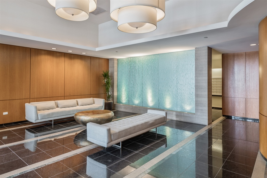 Real Estate Photography - 420 E Waterside Dr, Unit 1104, Chicago, IL, 60601 - Lobby