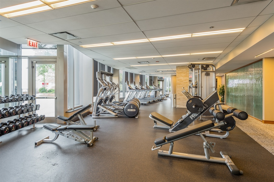 Real Estate Photography - 420 E Waterside Dr, Unit 1104, Chicago, IL, 60601 - Gym