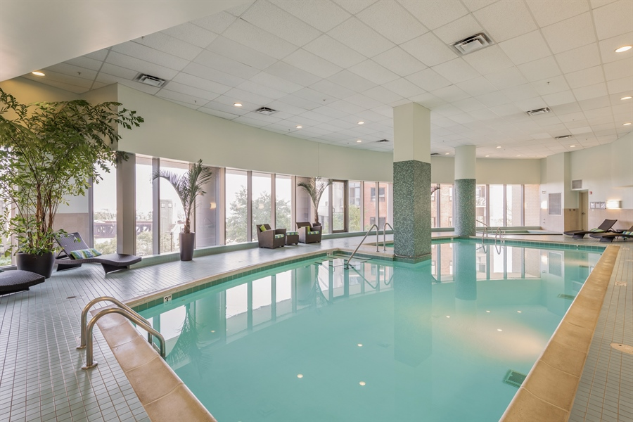 Real Estate Photography - 420 E Waterside Dr, Unit 1104, Chicago, IL, 60601 - Pool