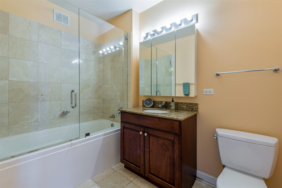 Real Estate Photography - 420 E Waterside Dr, Unit 1104, Chicago, IL, 60601 - Bathroom