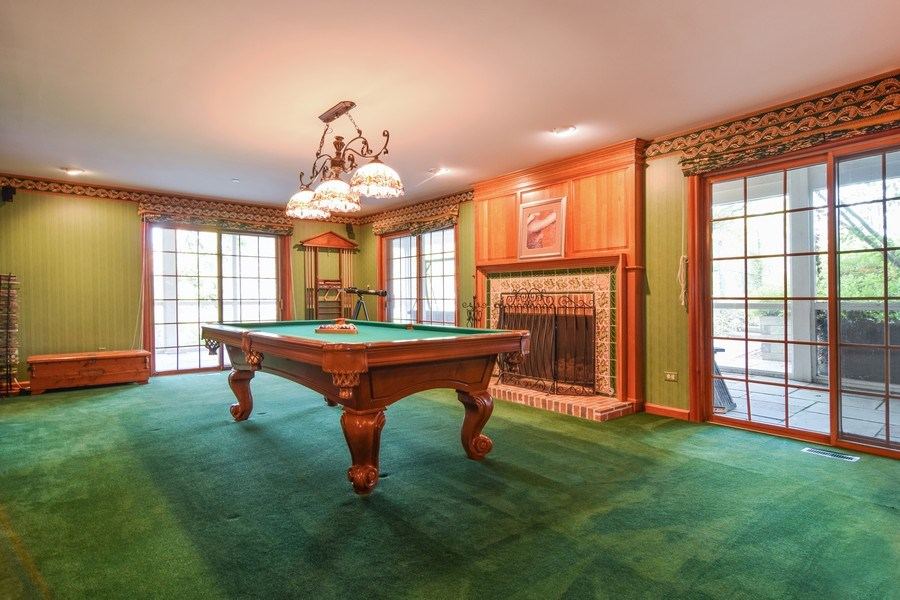 Real Estate Photography - 1626 Dublin Ct, Inverness, IL, 60010 - Gameroom