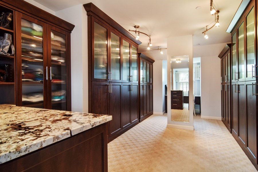 Real Estate Photography - 1626 Dublin Ct, Inverness, IL, 60010 - Master Bedroom Closet
