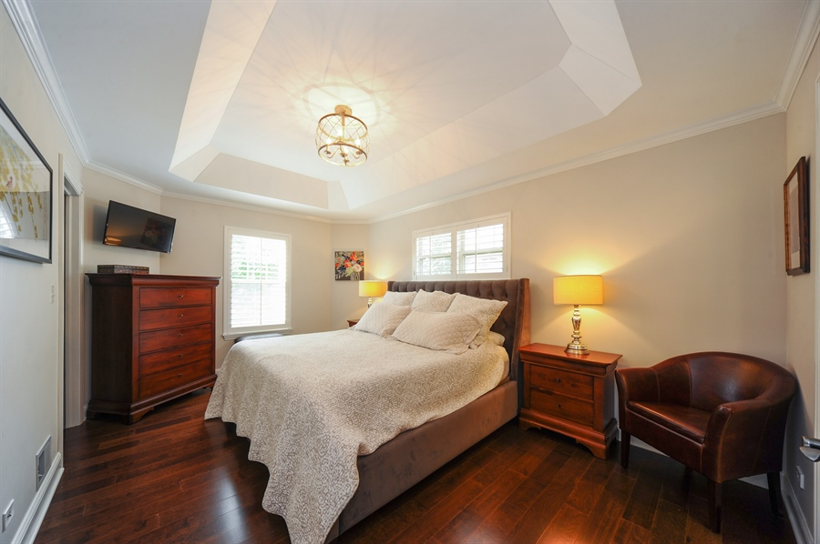 Real Estate Photography - 2528 Violet St, Glenview, IL, 60026 - Master Bedroom