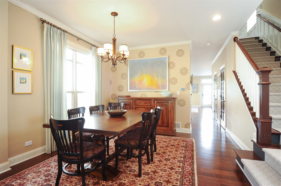 Real Estate Photography - 2528 Violet St, Glenview, IL, 60026 - Dining Room